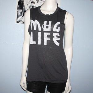 Mug Life Gray Muscle Top Fifth Sun Medium